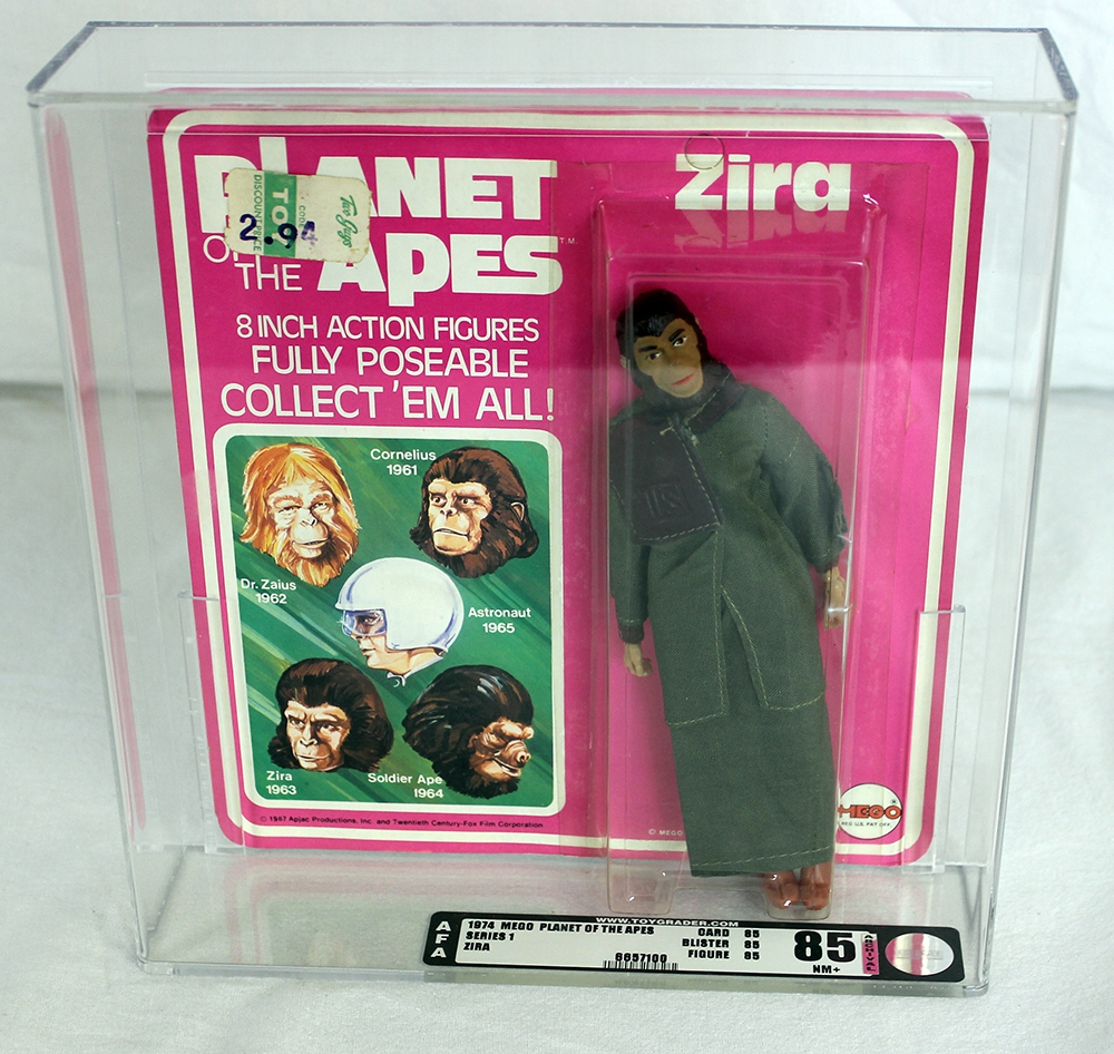 Planet of the Apes Vintage Carded Series 1 Zira AFA 85 NM+  6857100
